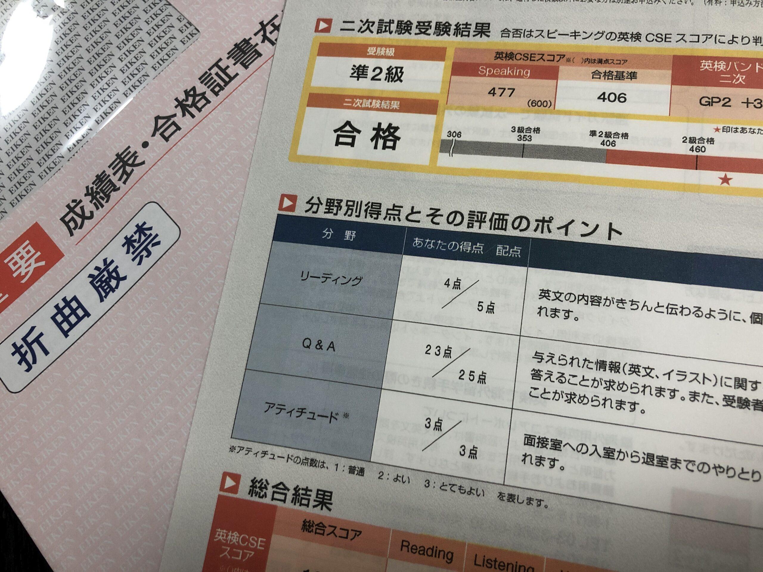 英 検 準 2 級 2 次 試験